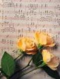 Wedding music and yellow roses